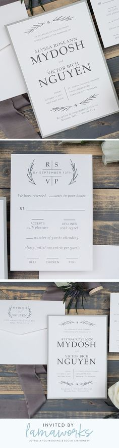 Your wedding is natural and elegant with rustic touches. You're dreaming of greenery and ferns and a lush, romantic atmosphere. Set the stage for your wedding day with an invitation that is sophisticated and beautiful. Customize this design to make it u Space Wedding, Formal Wedding, Camp Wedding, Wedding Summer, Boho Wedding, Elegant Wedding, Wedding Rustic, Dream Wedding, Unique Weddings
