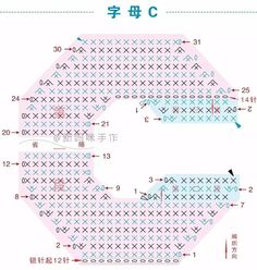Häkelfieber: ABC zum Spielen: Buchstabe C Crochet Alphabet Letters, Crochet Letters Pattern, Letter Patterns, Cross Stitch Alphabet, Crochet Doll Pattern, Crochet Motif, Crochet Patterns, Moogly Crochet, Crochet Wool