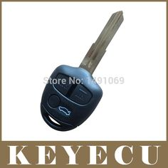 High Quality Replacement Shell Remote Key Case Fob 3 Button For MITSUBISHI Triton Uncut Left Blade