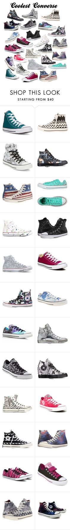 """Coolest Converse"" by kaytaydel27 ❤ liked on Polyvore featuring Converse"