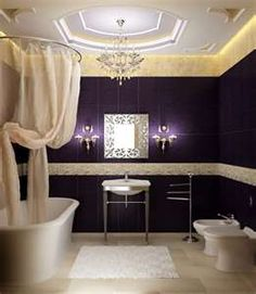 who would think you could get away with dark purple on the wall?