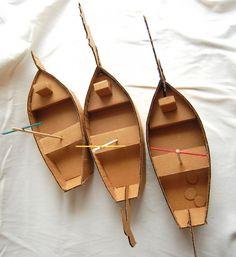 Kids Cardboard Boat