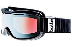 Bolle Monarch Goggles, Black Frame, Modulator Vermillon Blue Lens 20833