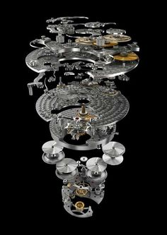 """Picture created for Vacheron Constantin when I was at """"Le Truc"""" company. Elegant Watches, Beautiful Watches, Cool Watches, Watches For Men, Vacheron Constantin, Mechanical Art, Skeleton Watches, Luxury Watches, Things To Sell"""
