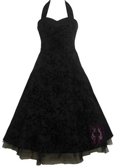 Want.  Black lace halter pin up dress. Sheesh.  I seem to be on a black dress kick tonight....