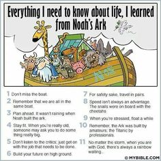 Compliments of Vicky Revel. It's a great thing that my kindergarten teacher knew all about Noah's Ark!