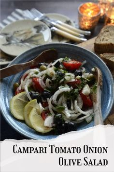 Campari tomato salad is a delightful new take on the tomato salad! Add sweet onions and olives, and you'll think you're dining at a cafe in Tuscany! #olivesalad #campari Breakfast Recipes, Dinner Recipes, Different Salads, Good Healthy Recipes, Easy Recipes, Olive Salad, Italian Salad, Tomato Salad, Easy Salads
