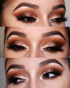 Burnt orange gold Smokey eye - Makeup Tips Eye Makeup Cut Crease, Gold Eye Makeup, Natural Eye Makeup, Eye Makeup Tips, Smokey Eye Makeup, Makeup Ideas, Makeup Designs, Makeup Tutorials, Prom Makeup