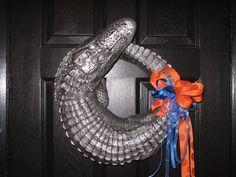 Gator wreath/centerpiece by MoodysWildIdeas on Etsy, $125.00