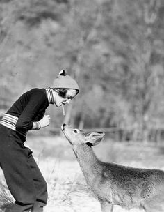 Mary Astor and friend, 1935