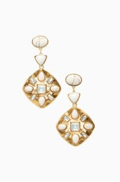 Wear these stunning stone mosaic earrings as an everyday stud or as a showstopper chandelier. Shop chandelier earrings at Stella