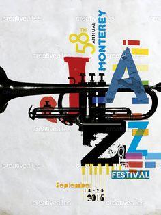 Monterey Jazz Festival Poster, 2015. Trumpet