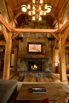 1000 Images About Timber Frame Great Rooms On Pinterest
