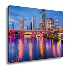 Ashley Canvas Tampa Florida Downtown Wall Art Decoration ...