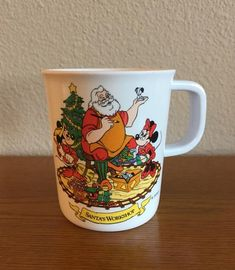 Vintage Melamine Disney Christmas Mug- Mickey, Minnie and Santa Melamine Mug- Children's Christmas Mug- Selandia Melamine Disney Mug by MagicalNostalgia on Etsy Vintage Mickey Mouse, Vintage Disney, Minnie Mouse, Christmas Mugs, Disney Christmas, Disney Mugs, Childrens Christmas, Great Gifts, Santa