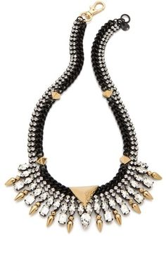 Shop 10 Collar Necklaces To Try This Fall. Stones, Pearls, Lace...There's A Style For Every Fashionista! | StyleBlazer