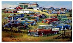 car paintings of the 60s | Dale Klee Car Art http://www.dwautoart.com/klee/index.htm