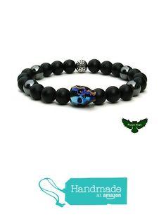 Skull Crystal Men's Gemstone Bracelet.