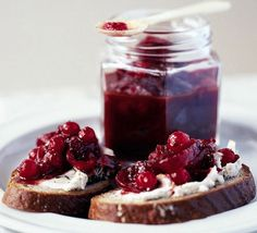Redcurrant and red onion relish recipe, from BBC Food.