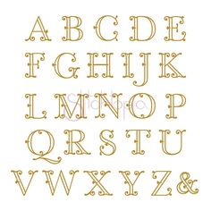 Victorian Monogram Font, Large - 5 Sizes! | What's New Embroidery Designs | Products | SWAK Embroidery Stitchtopia