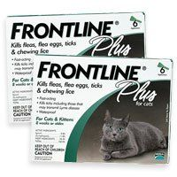 $127.46-$240.00 Frontline Plus for Cats 12-month supply. Frontline Plus effectively targets all stages of fleas. Fipronil collects in the oils of the skin and hair follicles and continues to be released from hair follicles onto the skin and coat resulting in long-lasting activity against fleas and ticks. By effectively stopping the development of new fleas, Frontline Plus completely breaks the fl ...