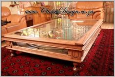 coffee tables with display cases | www.ClassicDesign.co.za » Coffee table with display area for a model ...
