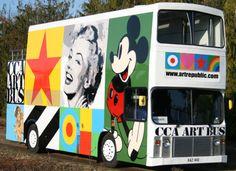 The double-decker CCA Peter Blake Art Bus returns for Brighton Fringe Tristan Tzara, Jim Dine, Art Pop, Gustav Klimt, Kandinsky, Andy Warhol, Happy Bus, Mass Culture, Clever Advertising