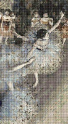 Danseuse Dit Danseuse Basculant Cross Stitch by Avalon Cross Stitch on Etsy