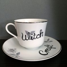 Magick Wicca Witch Witchcraft:  #Witch #Craft teacup and saucer.
