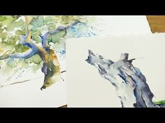 "Dein Tutorial ""Bäume im Aquarell""   Video zum Buch: ""Das gelungene Aquarell"" - YouTube"