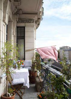 Wenn das Essen fertig ist, hängt Eschi Fiege ihre selbstgebastelte Fahne auf den Balkon ihrer Altbauwohnung am Wiener Naschmarkt. Wenn das karierte Tuch im Wind flattert, wissen alle Eingeweihten: Jetzt gibt´s wieder lecker Mittagessen.