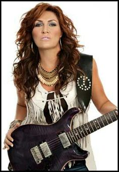 Jo Dee with guitar