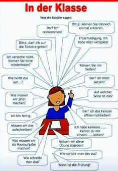 German in der klasse Study German, German English, Learn German, Learn English, German Grammar, German Words, German Resources, Deutsch Language, Germany Language