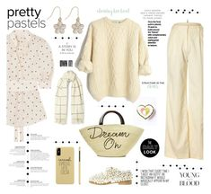 """""""Soft Transition into Spring"""" by taci42 ❤ liked on Polyvore featuring Brooks Brothers, Zimmermann, Eugenia Kim, Anouki, Holzweiler, M&Co, ivory, polyvoreeditorial, pastelsweaters and independantSet"""