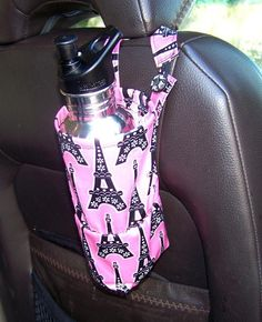 This reminds me if what i can so with the covers my umbrellas came in, leave them attached to something in the car so we know where to return the umbrella to. Sewing: Cup/Bottle Holder for Cars