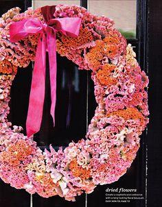 wreath - orange and pink