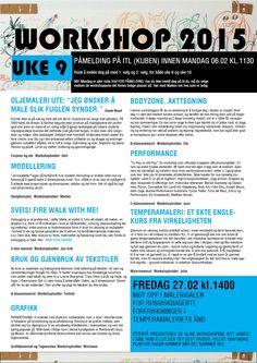 WORKSHOP 2015 UKE 9 Boarding Pass, Workshop, Atelier