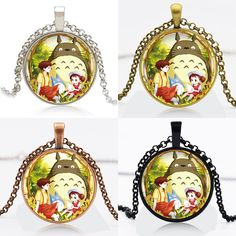 Find More Pendant Necklaces Information about 10pcs My Neighbor Totoro Logo Round Pendant Women Choker Statement Necklace For Men Dress Accessories DF91064,High Quality necklace initial,China necklace secret Suppliers, Cheap necklace 925 sterling silver from DreamFire Store on Aliexpress.com