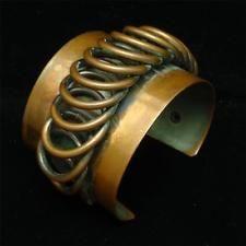 "Rebajes 2"" Wide Copper Cuff Bracelet Vintage"