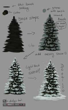 Seven Shocking Facts About Digital Painting Tutorial Christmas Watercolor Trees, Watercolor Paintings, Simple Watercolor, Tattoo Watercolor, Watercolor Animals, Watercolor Techniques, Watercolor Background, Watercolor Landscape, Abstract Watercolor