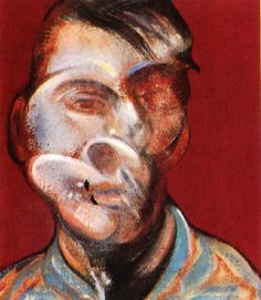 "Francis Bacon, 'Study for Self-Portrait', 1973 - ""I've done lots of self-portraits, really because people have been dying around me like flies and I've had nobody else to paint but myself."" 1975 - This amplifies Bacon's lonely relationship with himself, and is rather poignant. Relationship: The self and others"