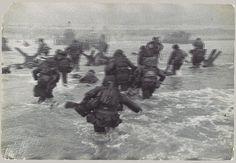 [American Troops Landing on D-Day, Omaha Beach, Normandy Coast], 1944 Robert Capa (American, born Hungary, 1913–1954) Gelatin silver print