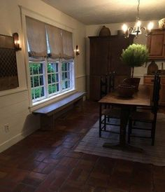 PictureTrail provides online photo sharing, personal homepages and image hosting. Primitive Dining Rooms, Primitive Decor, Colonial Furniture, Antique Furniture, Dining Room Windows, Inside Home, Vintage Home Decor, Country Decor, Old Houses