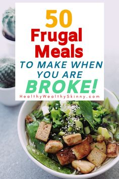 When looking for ways to save money, reducing your grocery bill is a good place to start. View 50 frugal meals you can make when you're broke. Frugal Tips, Frugal Meals, Ways To Save Money, The Best, Saving Money, Food To Make, Health Fitness, Skinny, Drinks