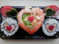 Love sushi#Valentine sushi#wedding sushi by Authentic Japanese Foods in UK
