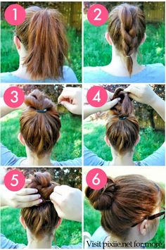 Hair Pixiie: DIY Braided Bun Hairstyles pinned from hair.pixiie.net