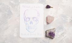 Pastel Skull Wedding Invite-Full Suite sample. £2.00