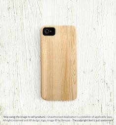 Wood iPhone 5 case. Wood printed on plastic. Love!