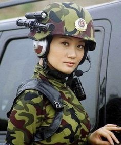 Beautiful women soldiers