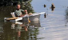 Jan Woitas / dpa via AP Uwe Peterle moves across an area flooded by the river Mulde with a boat made out of a bathtub in Niesau, eastern Germany, on June 11, 2013. Residents of Niesau are completely surrounded by the floods.